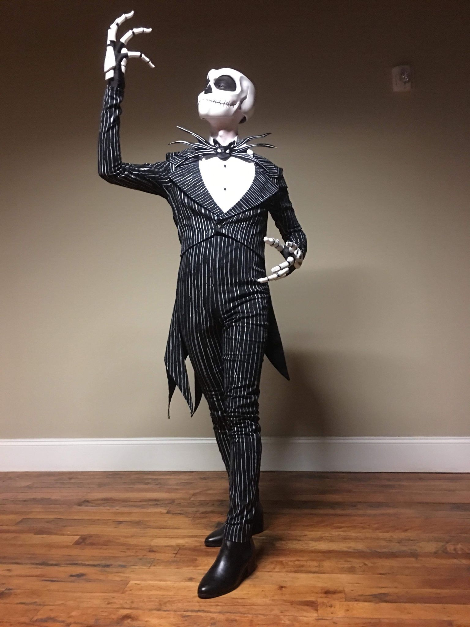 Happy Halloween SKELETON THE NIGHTMARE Pumpkin horror costume fancy dress Jumper