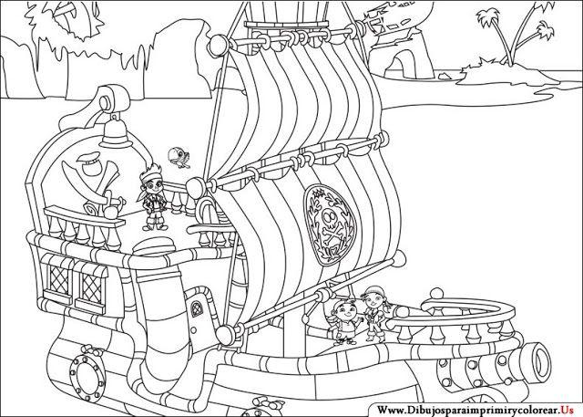 Dibujos de Jake y los piratas del país de Nunca Jamás | Jake y los ...
