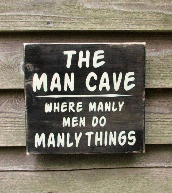 man cave sign, gift for dad, gift for grandpa, primitive rustic home decor, hand painted wood sign,
