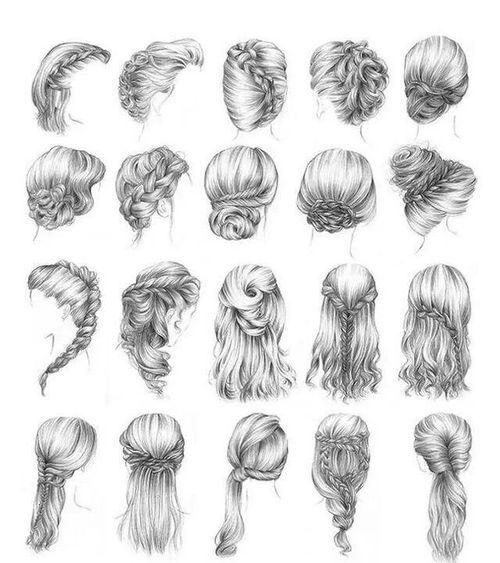 Idéias para penteados. Eu, particularmente, acho o cabelo todo preso mais chique para noiva