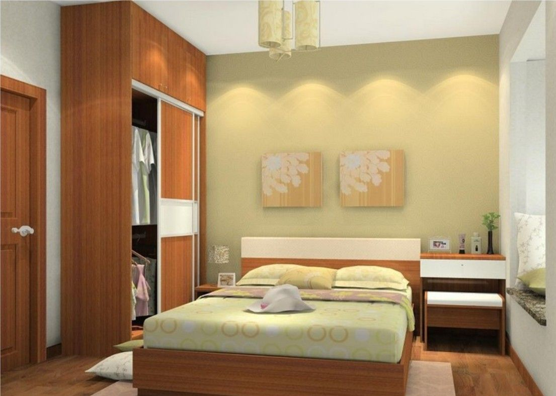 Simple Bedroom Design For Small Space | Simple bedroom design, Decor ...