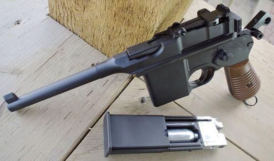 Umarex C96 Mauser Legends CO2 Blowback BB Pistol Table Top Review