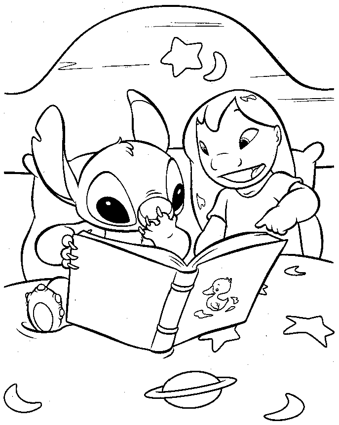 Lilo and Stitch Coloring Pages Free Printable painting