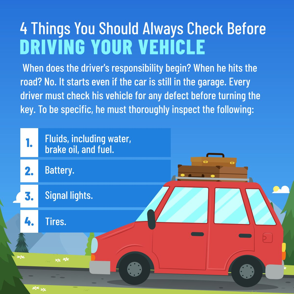 4 Things You Should Always Check Before Driving Your