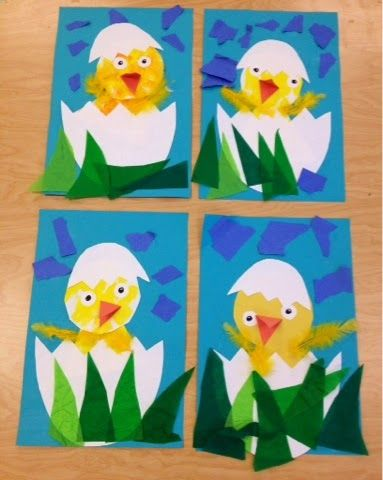 Kindergarten/PreK Chick-hatching/spring art-Art with Mr  Giannetto