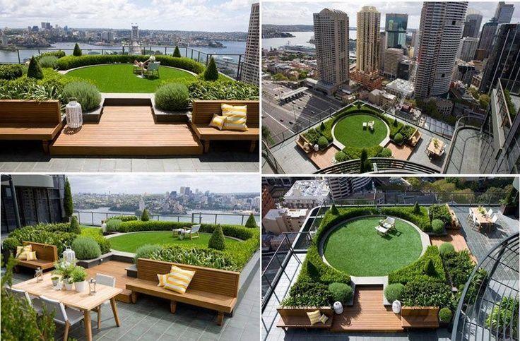 Amazing Rooftop Garden Nestled Between Skyscrapers Sydney