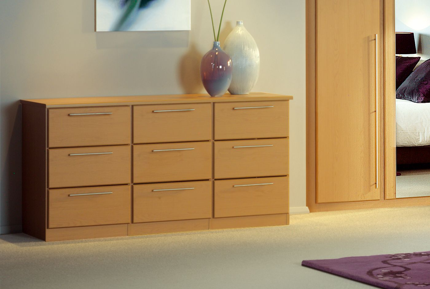 malmo bedroom furniture and wardrobes in maple by sharps. Black Bedroom Furniture Sets. Home Design Ideas