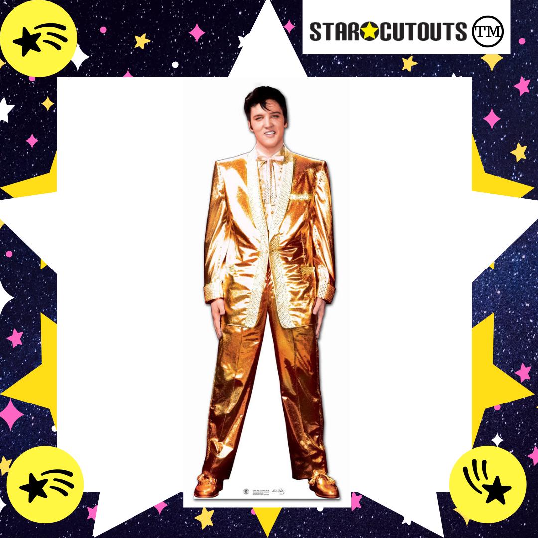 Elvis Presley black leather LIFESIZE CARDBOARD CUTOUT standee standup The King