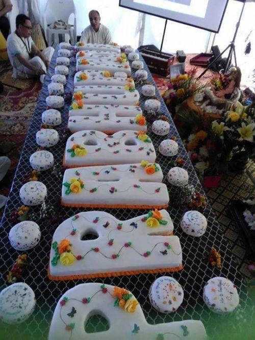 Beautiful cake offered to Srila Prabhupada in Brisbane ...