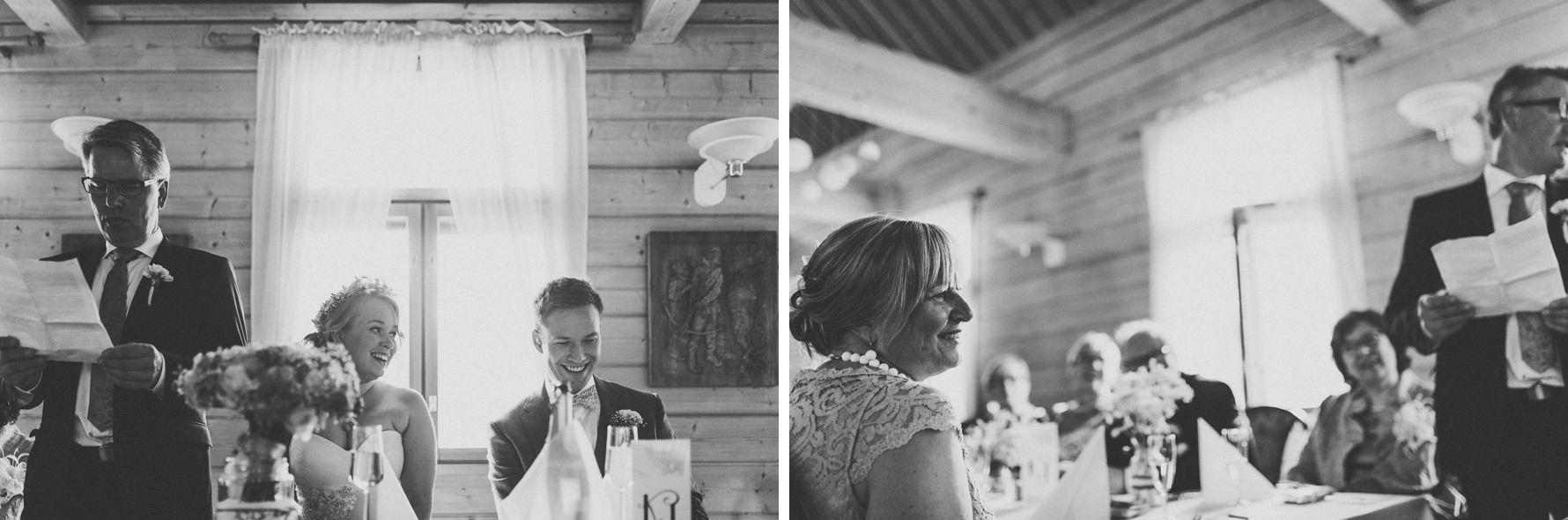 Father of the bride speaking | Scandinavian wedding | Pitsiniekka | Picture by Jaakko Sorvisto www.jaakkosorvisto.com