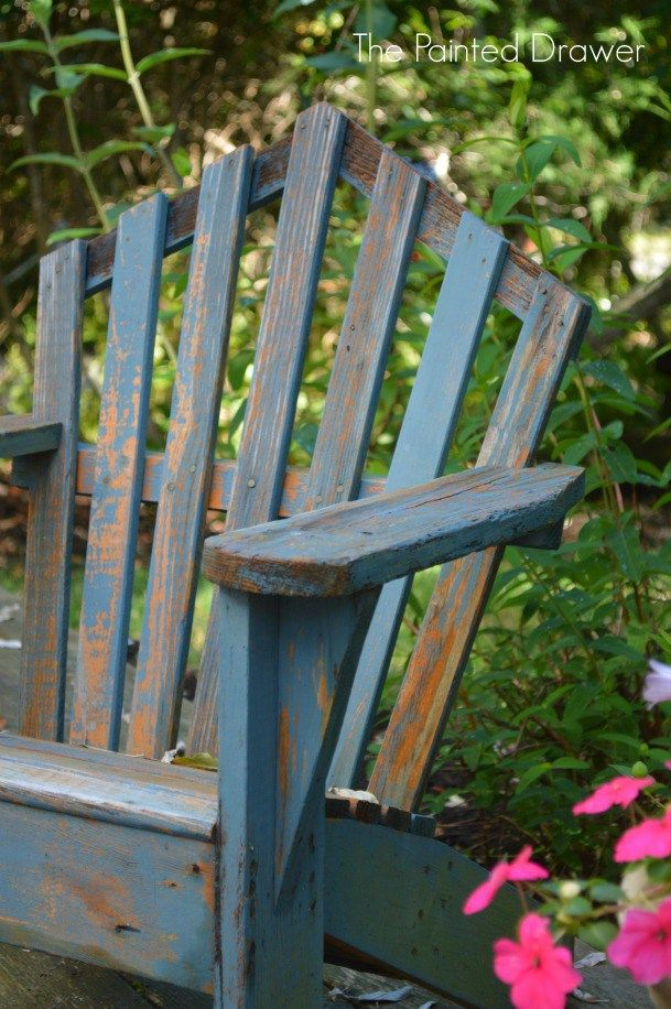 Distressed Adirondack Chairs Toddler Soft Greek Blue Child S Chair Painted Furniture In Annie Sloan Chalk Paint