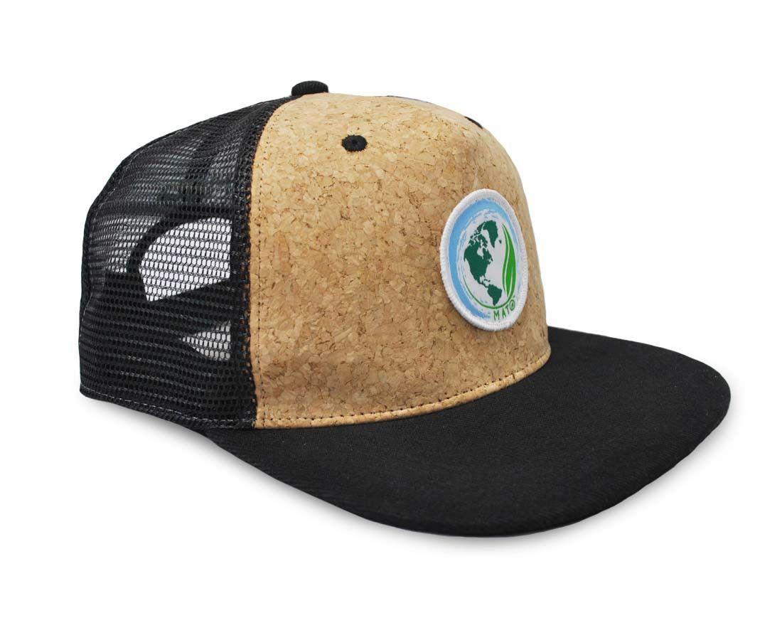 cebcedf6148 Mato Snapback Trucker Hat Net Mesh Cork Baseball Cap Large Black ...