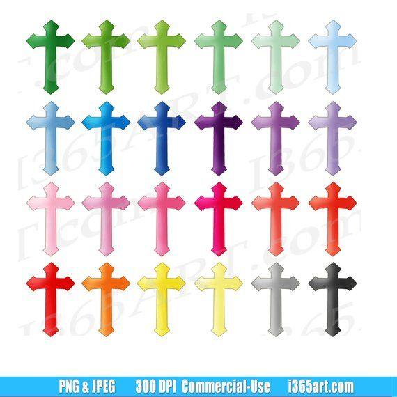 Buy 3 Get 1 Free Cross Clipart Cross Clip Art Crucifix Etsy Clip Art Cross Clipart Digital Clip Art