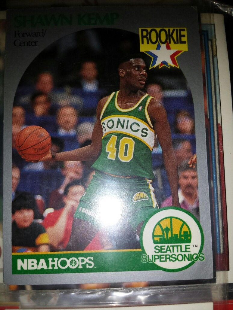 Shawn Kemp rookie basketball card (With images