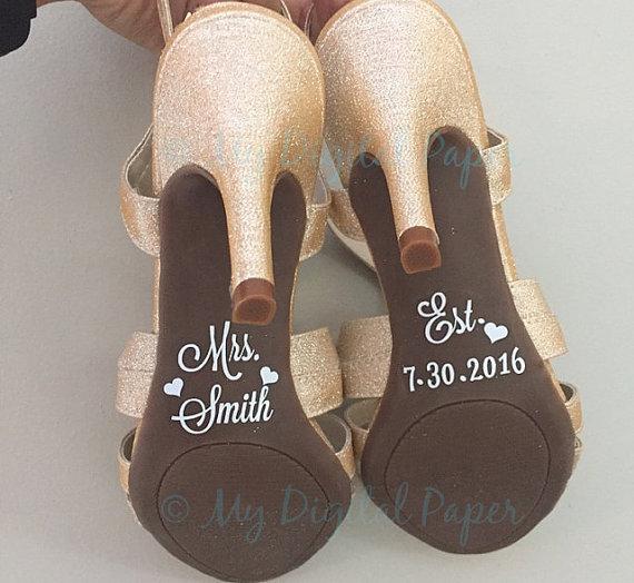 Wedding Shoe Decal