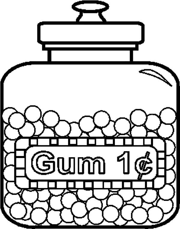 Tasty Gum Jar Coloring Pages Bulk Color In 2020 Candy Coloring Pages Coloring Pages Coloring Pages For Kids