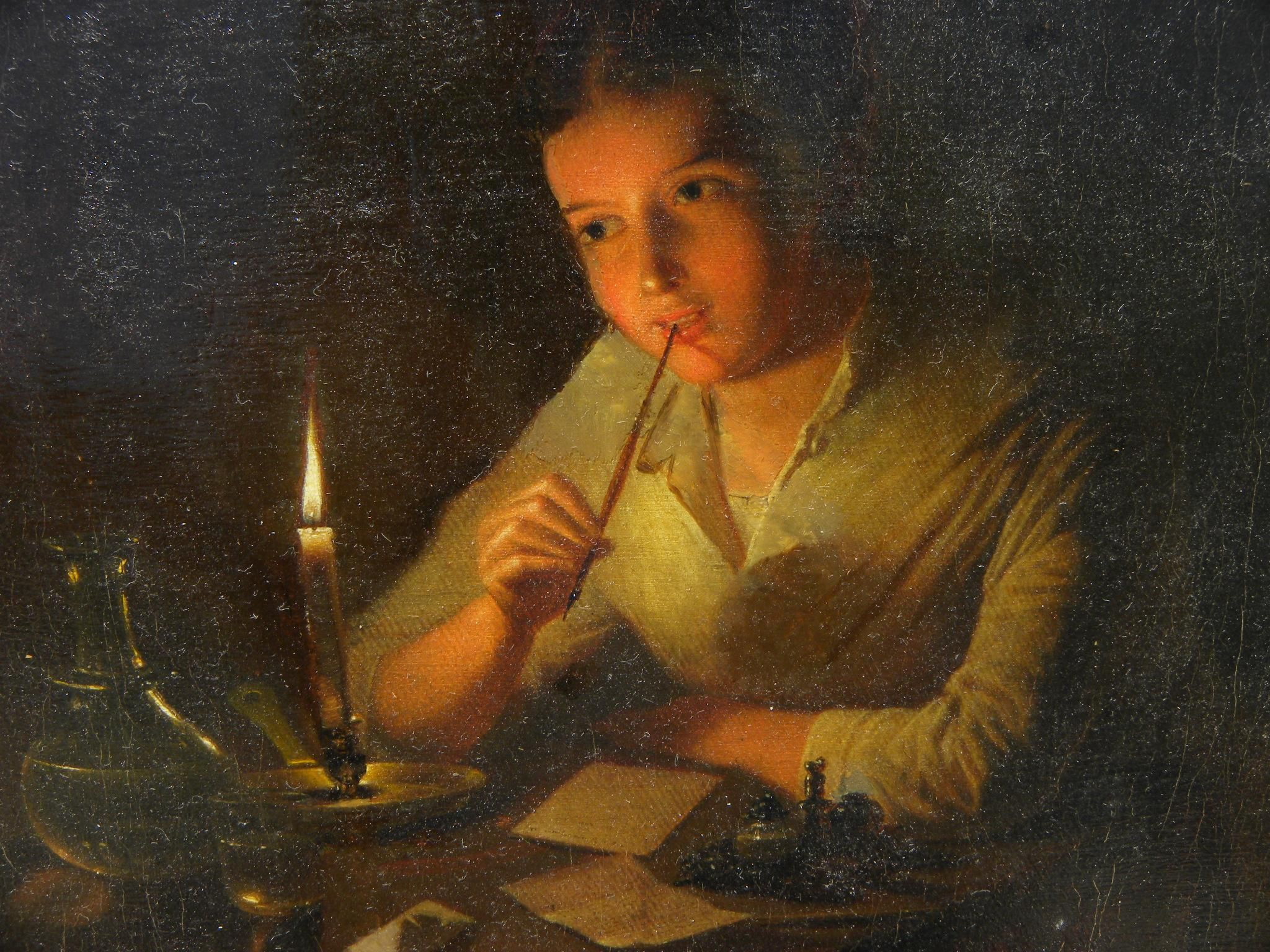 Candle Light Painting Image Result For Woman Writing Letter Candlelight Painting