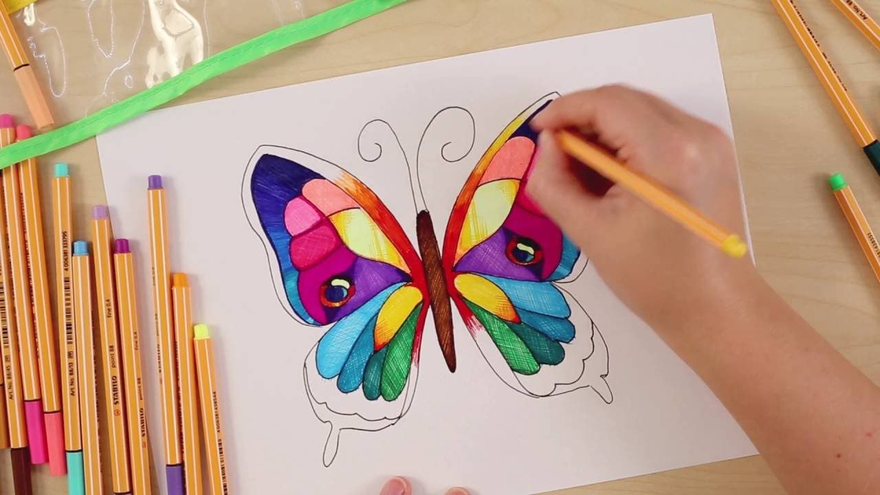 How Many Colors Does A Butterfly Have With Stabilo Point 88 You