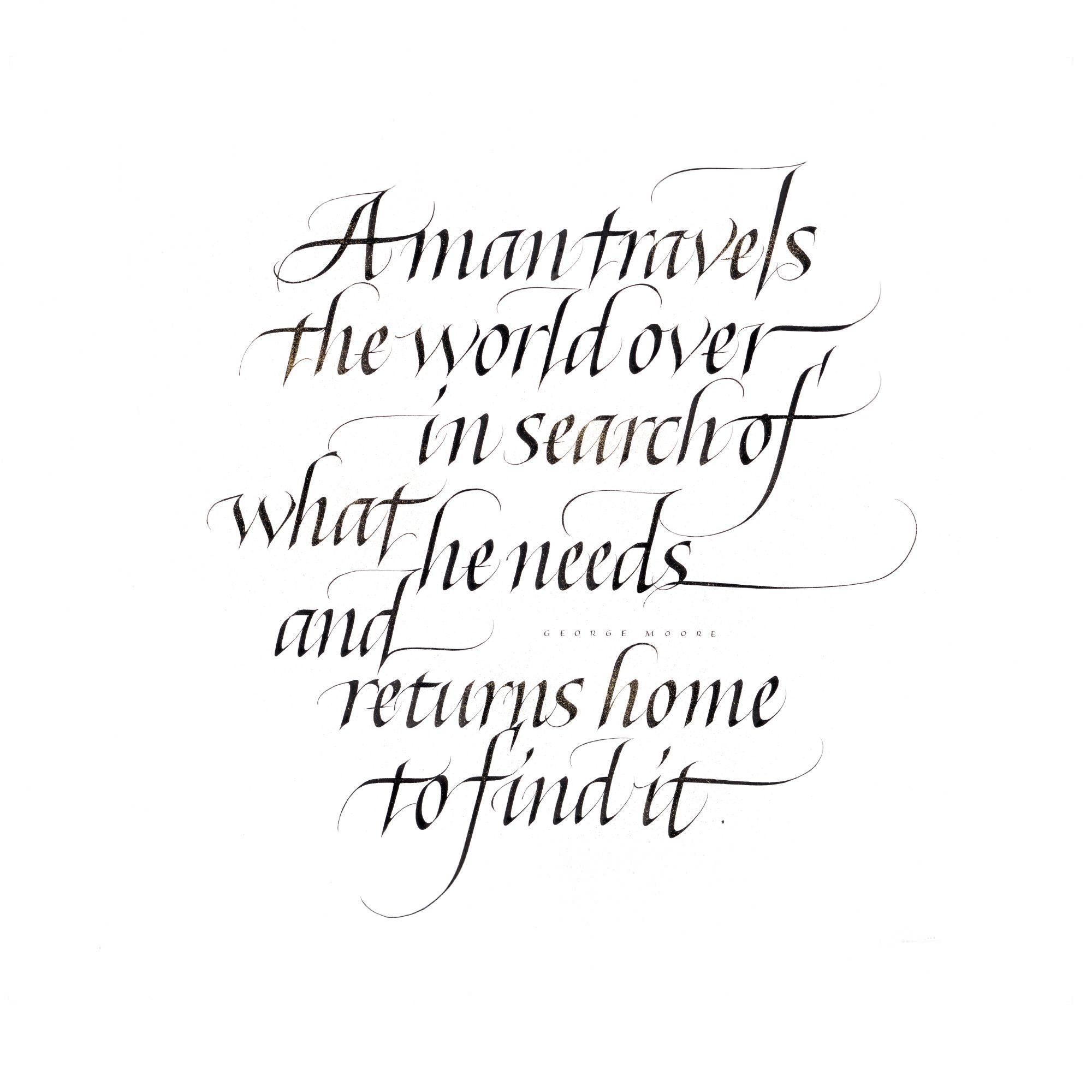 Quote By George Moore Calligraphy Return Home Izumi Shiratani