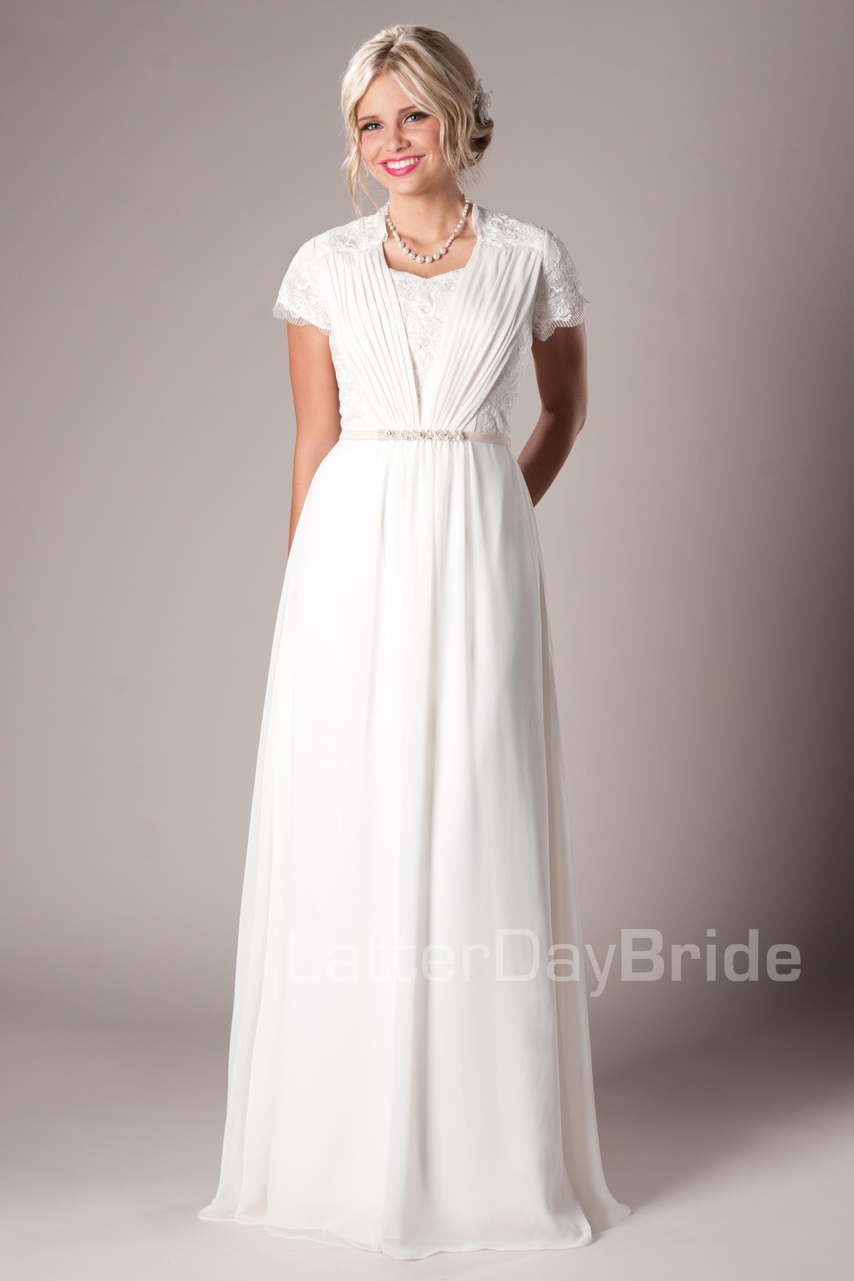 7acaab050ea Lavinia Modest Wedding Dress Latter Day Bride & Prom Gateway Bridal ...