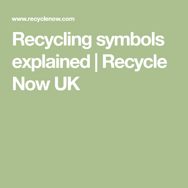 Recycling Symbols Explained Recycle Now Uk Eco Living