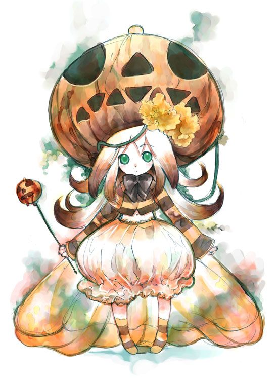 Anime Characters For Halloween : Halloween anime girl