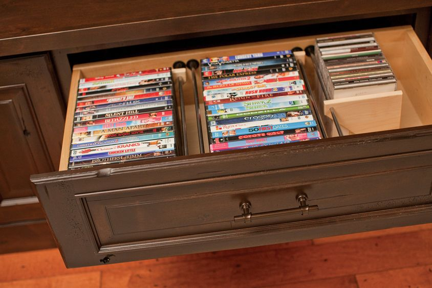 Dura Supremeu0027s Media Collection Storage Drawer For Entertainment Centers  Organizes DVDs And CDs For Convenient Management Of Your Media Library.