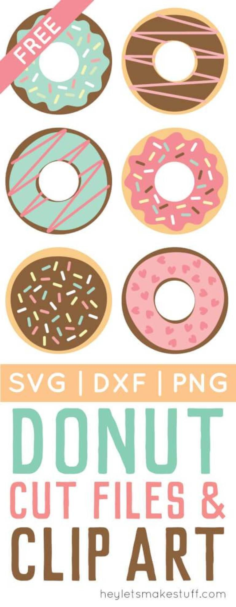 Donut Cut Files + Clip Art - Freebie Friday