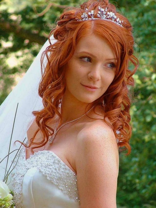 wedding hairstyles for long hair with veil 2020