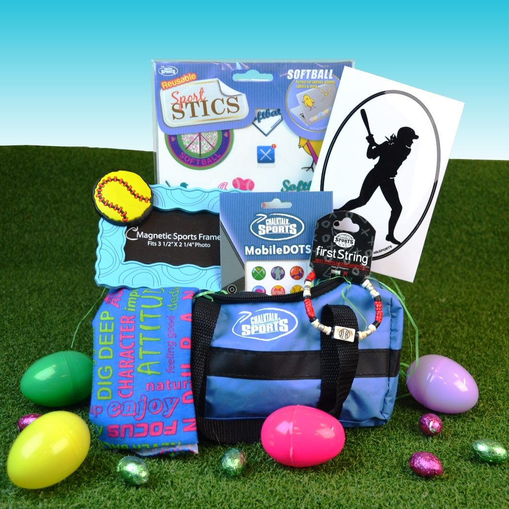Softball easter bag 45 value only 2299 softball gifts softball chicks will love our bold and bright softball easter gifts including our popular pre made softball easter baskets to brighten up their holiday negle Image collections