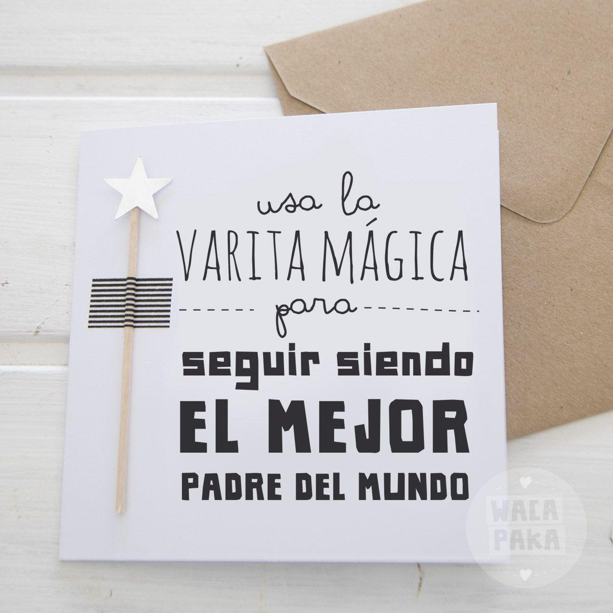 Postal varita padre boda pinterest manualidades - Tarjetas de navidad manuales ...
