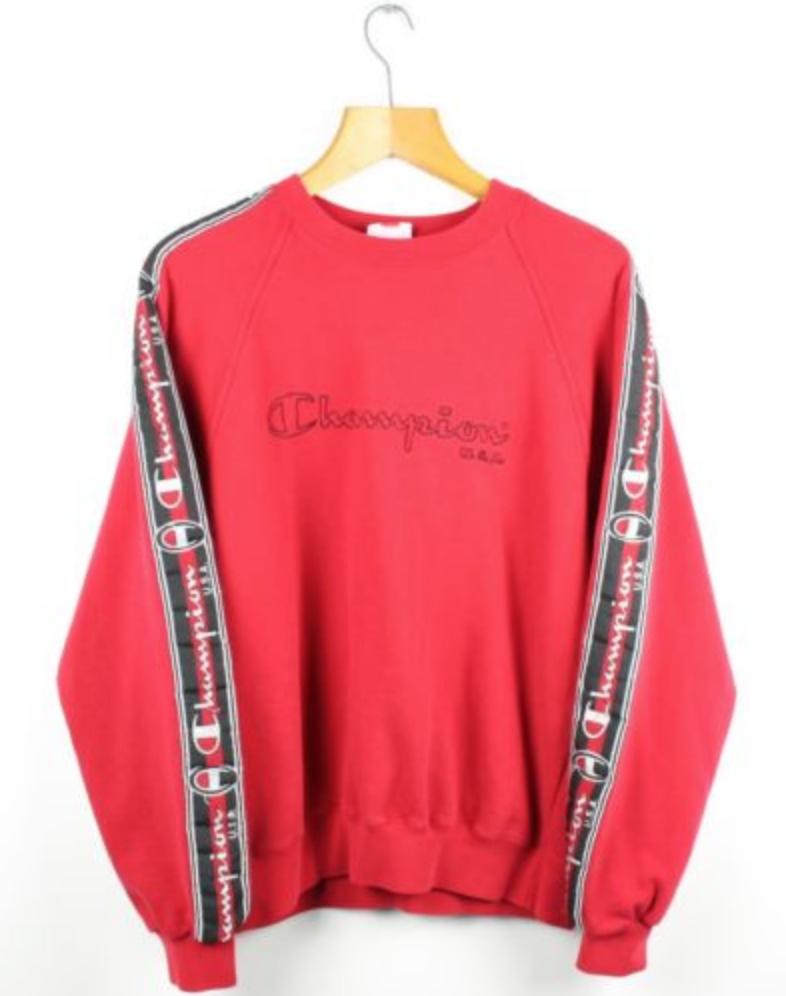 7e08c3af7799 FOR SALE  Vintage CHAMPION USA Arm Tape Sweatshirt Jumper