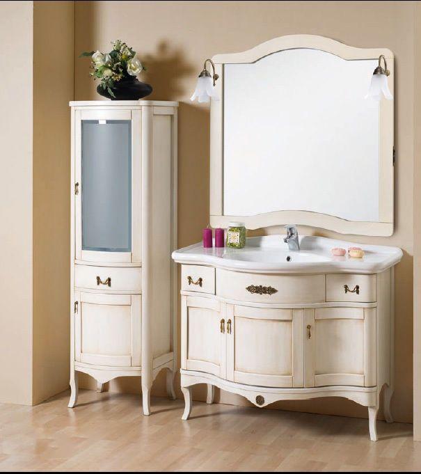 Mobile da bagno arte povera lavabo specchio arredo massello anticato ...