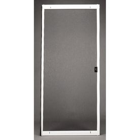 Shop Ritescreen White Steel Sliding Screen Door Common 80 In Actual Lowes Home Improvements Sliding Screen Doors Screen Door