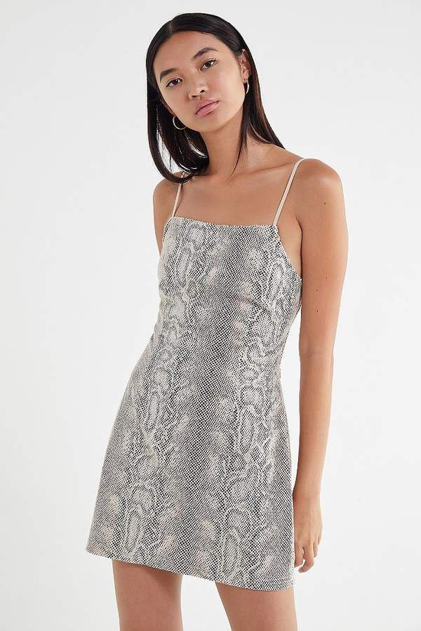 eca430f251f Urban Outfitters UO Textured Snake Mini Dress