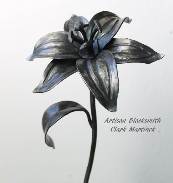 Wedding Anniversary Gifts For Her: Iron Gift, Lily Flower, Iron Anniversary Gift, 6th Wedding