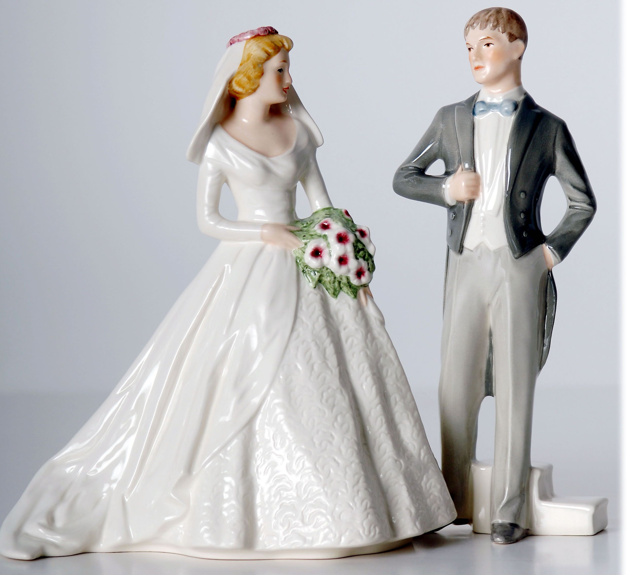 Vintage Romantic Funny Wedding Cake Toppers