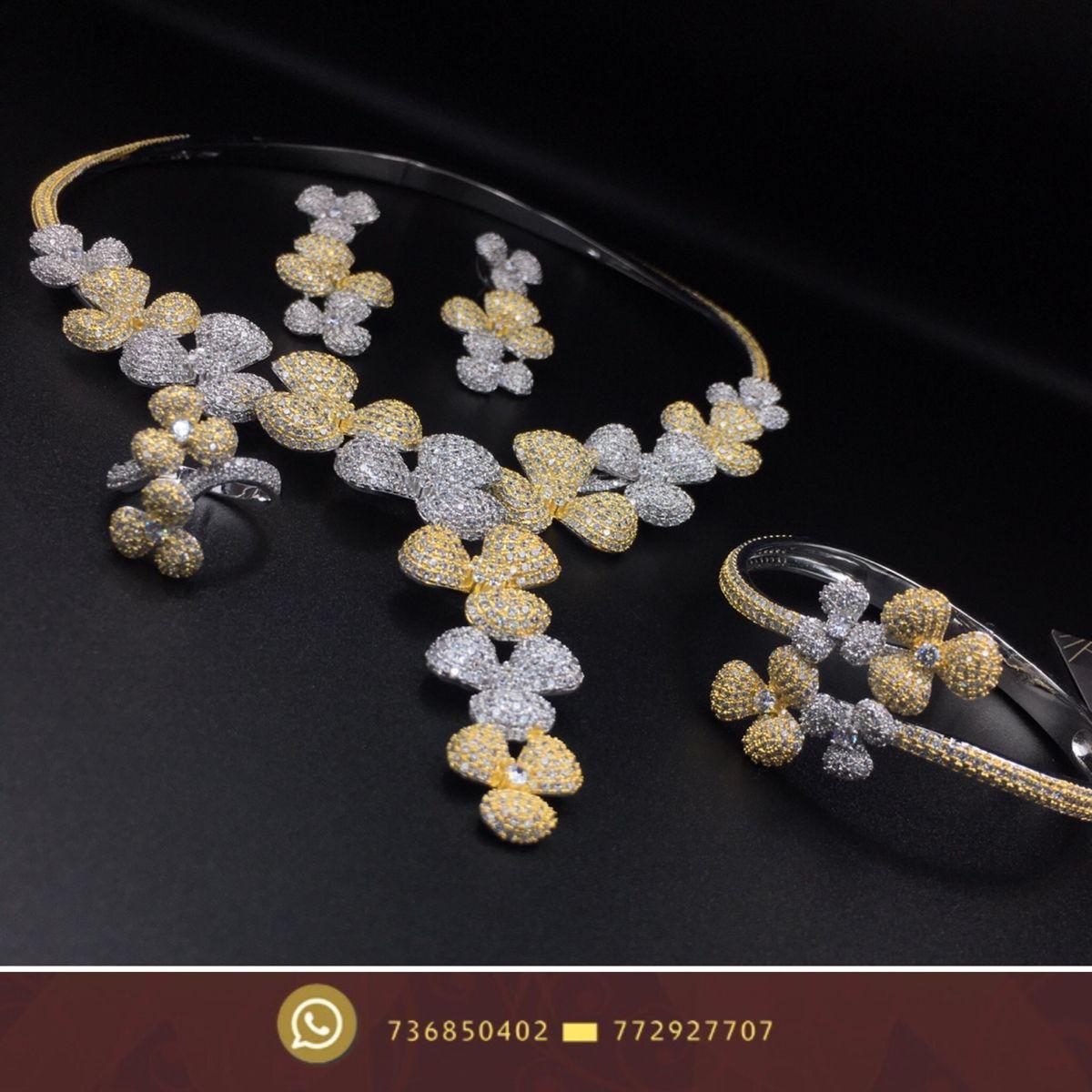 اطقم نسائية زركون فضة طقم صنعاء هداياء عروسة زفاف Pandora Charm Bracelet Pandora Charms Charm Bracelet