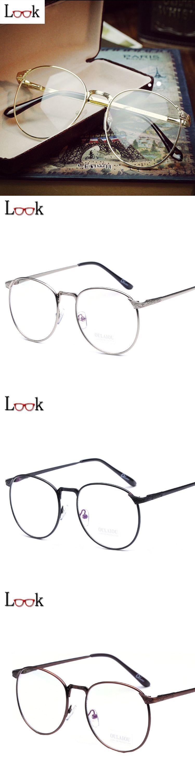 856d5b6d255 Sale Metal Vintage Round Glasses Frame Brand Eyeglasses Frames Women Men  Gafas Optical Spectacle Frame Oculos