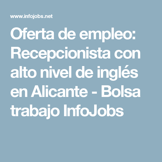 empleo alicante ingles