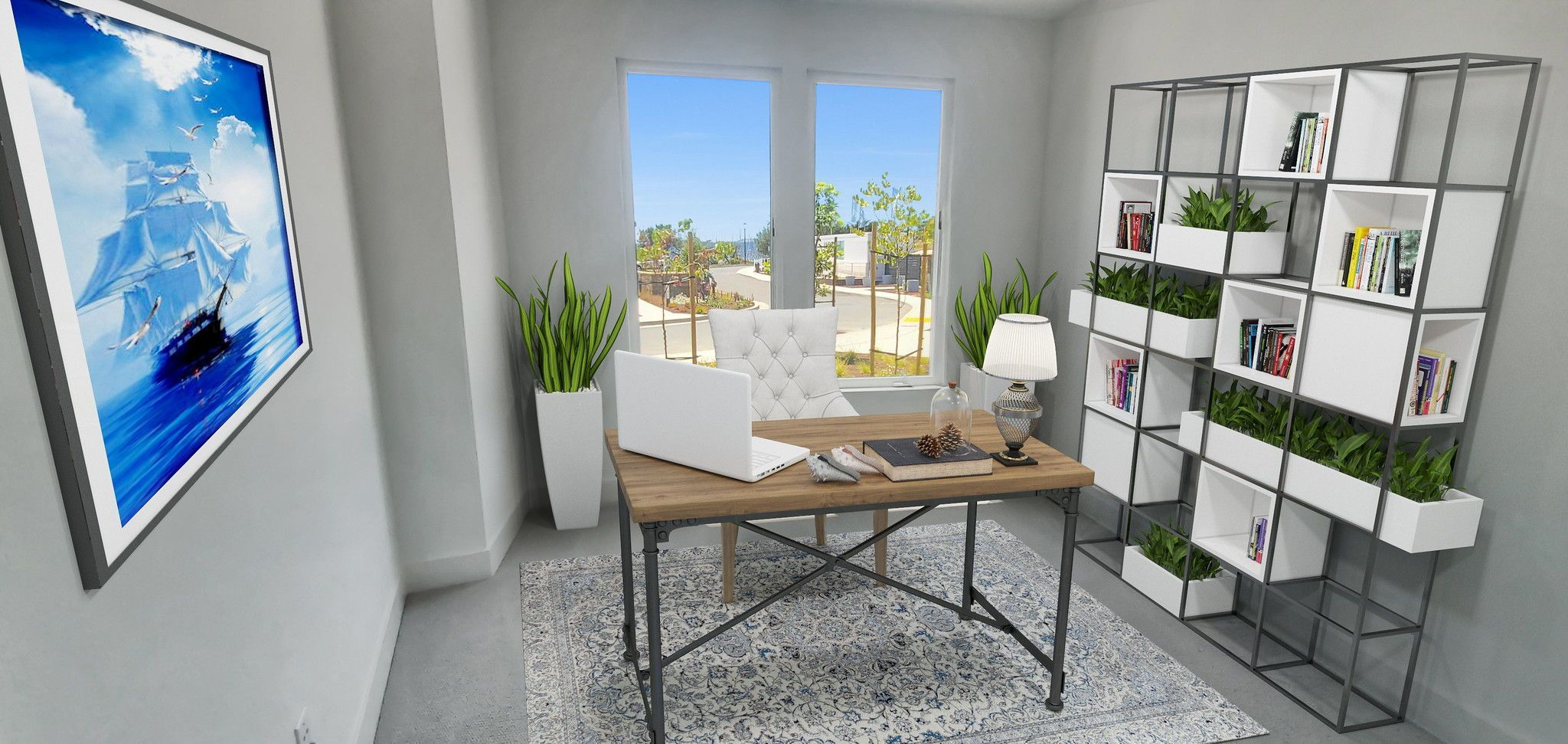 Waterline in Point Richmond, CA by Shea Homes | Residence 4 Home Office  #SheaHomes #SheaHomesNorCal #SheaHomeowners #SheaNorCal #LiveTheSheaDifference #NorCalHomes #NorCalRealEstate #BayAreaRealEstate #BayAreaNewHomes #HomeDesignInspiration #HomeInspiration #Waterline #PointRichmond Sales: Shea Homes Marketing Company (CalDRE #01378646); Construction: Shea Homes Limited Partnership (CSLB #855368). Equal Housing Opportunity.