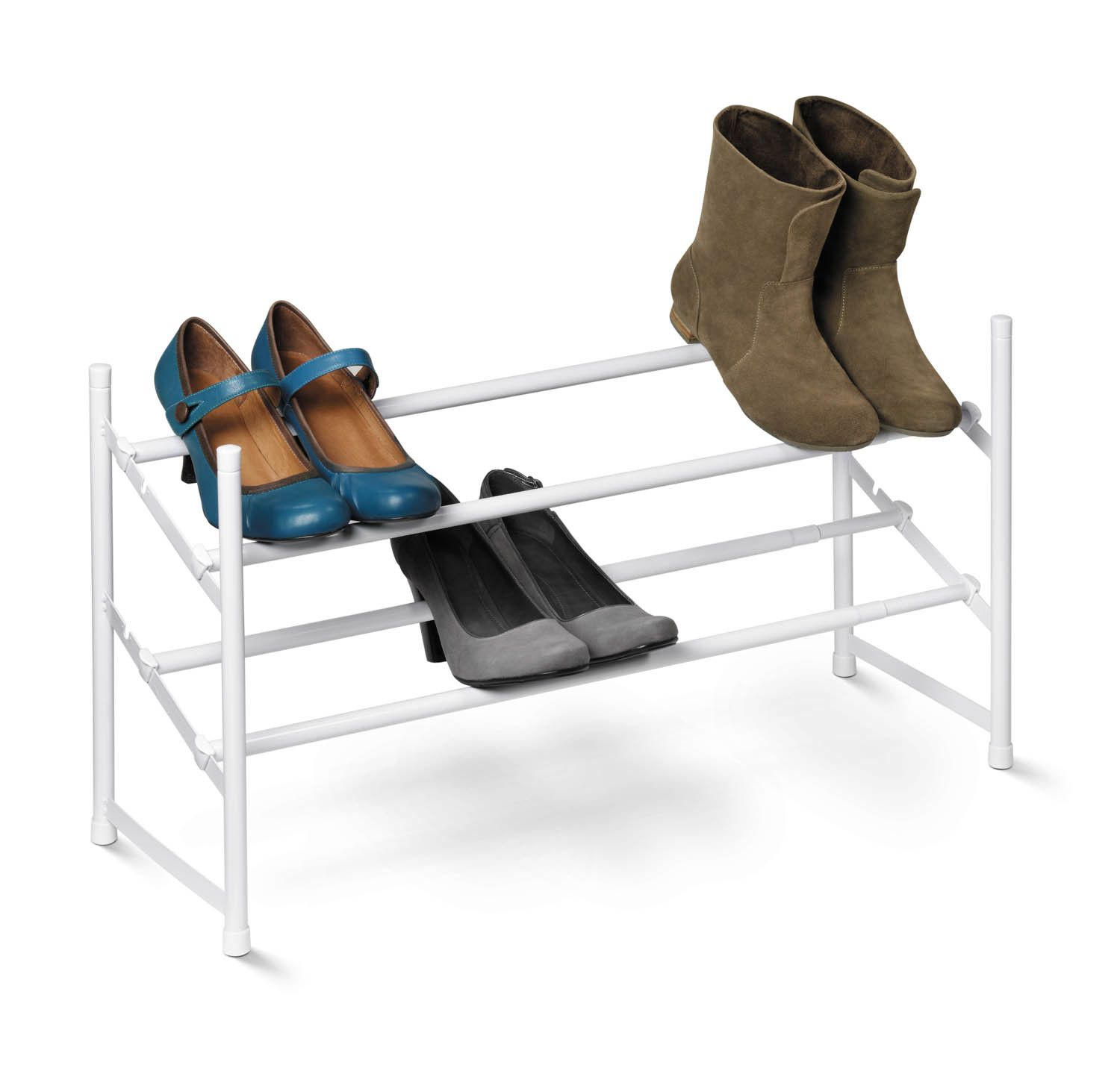 Expandable tier shoe rack products pinterest blanco