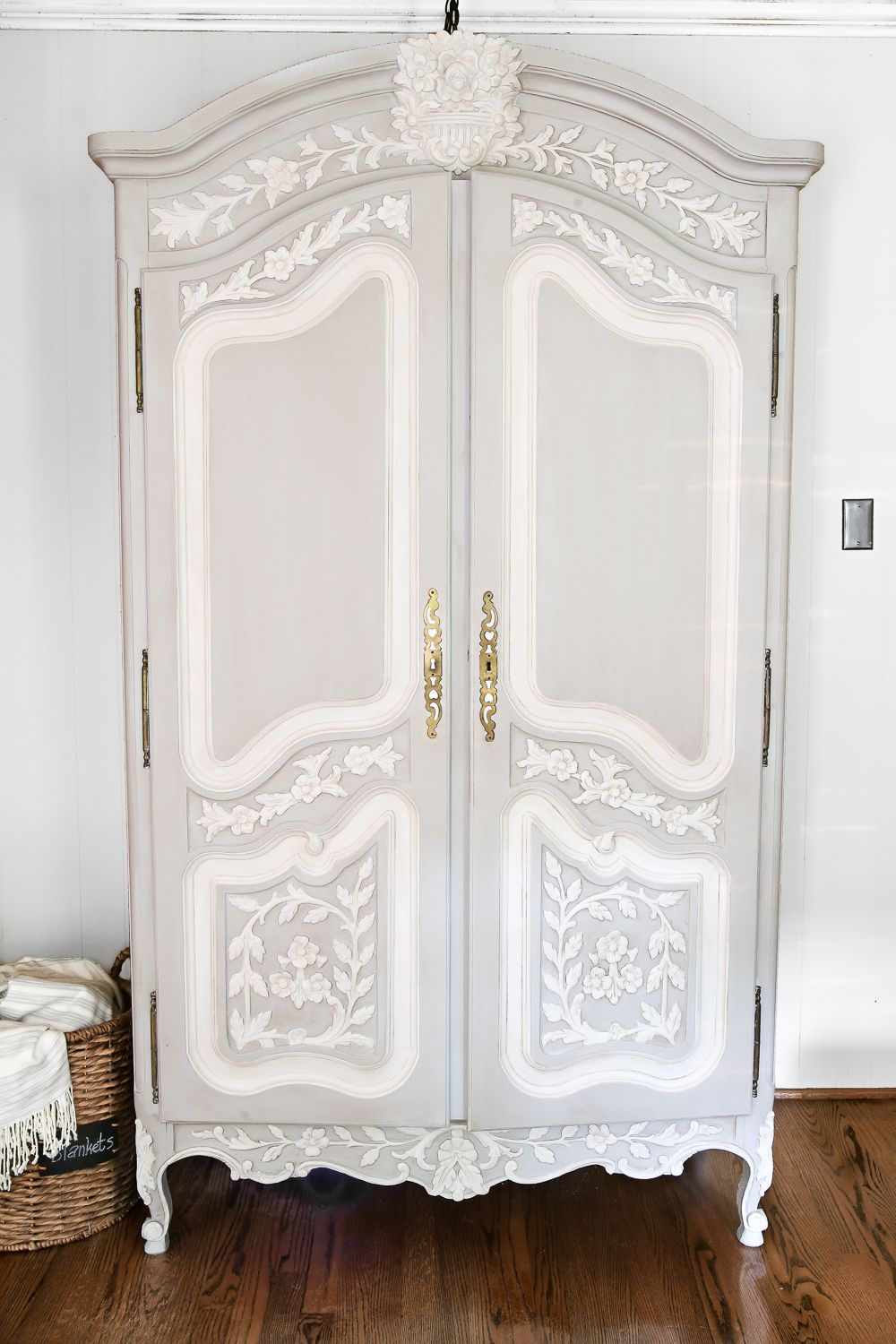Armoire Makeover Diy Painted Furniture