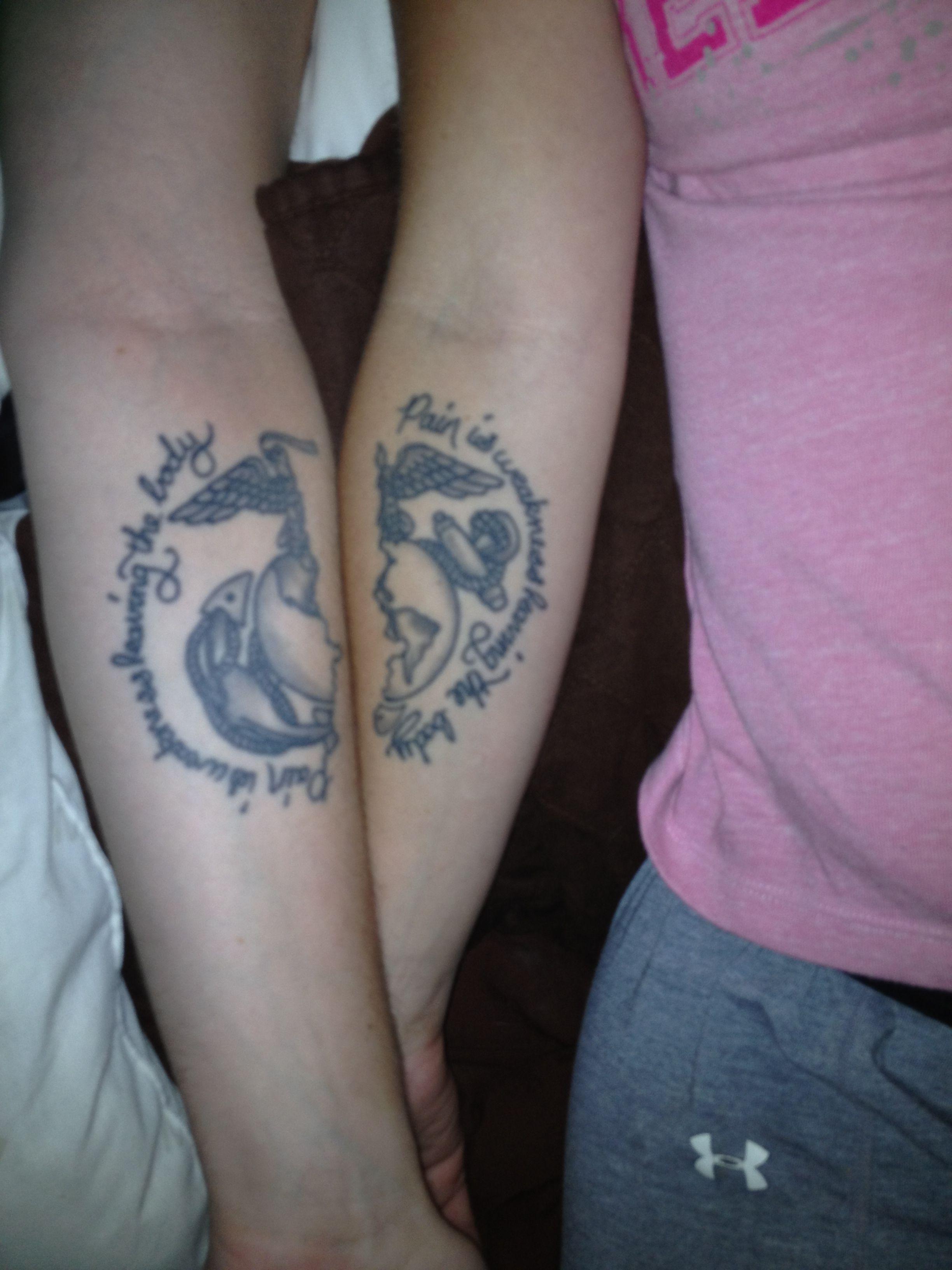 Marine Corps Eagle Globe And Anchor Marine Sister Marine Love Him And Her Tattoos