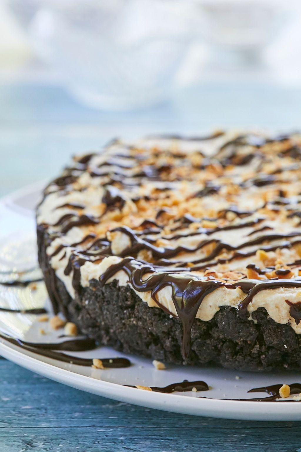 Nobake peanut butter fudge ice cream pie bigger bolder