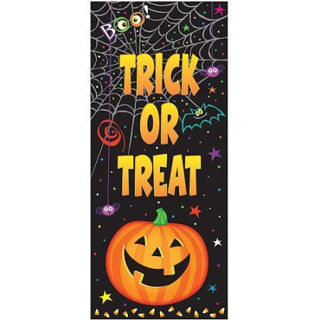 Pumpkin Pals Halloween Door Poster, Multicolor Door posters, Doors