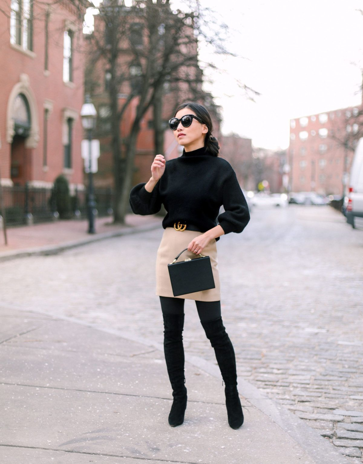 0f67567f3d8 stylish petite outfits boston fashion blog. stylish petite outfits boston  fashion blog Over The Knee Boot ...