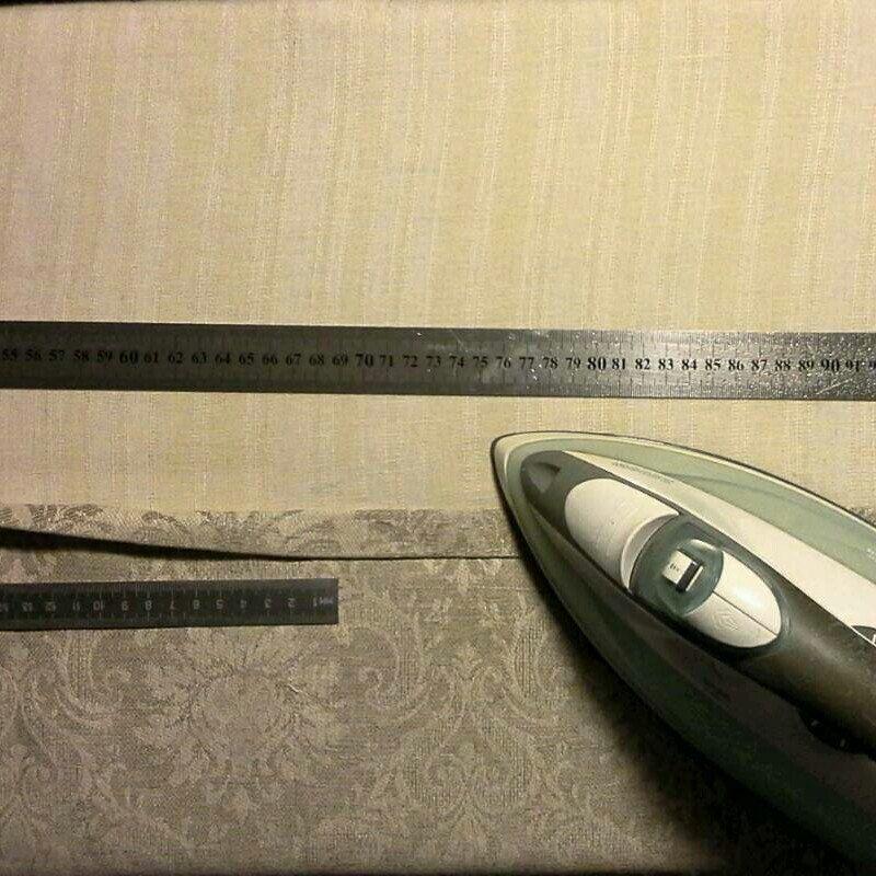 Making 1+2cm side seam fold. bestqualitysideseam