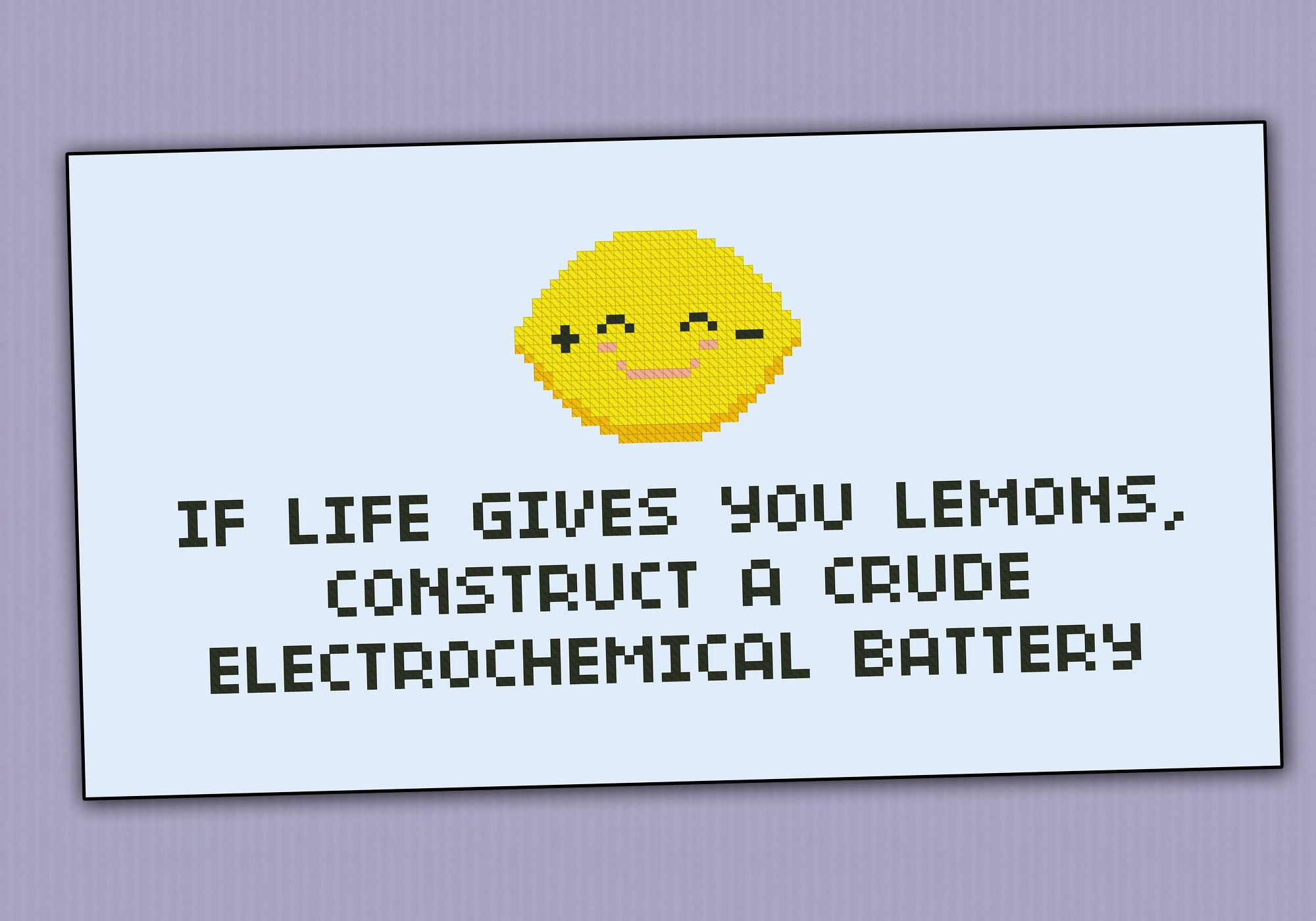 If Life Gives You Lemons Quote Science Patterns Cross Stitch