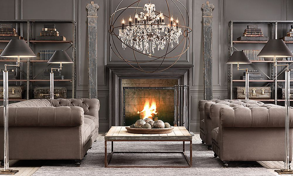20 Amazing Living Rooms Inspired By Restoration Hardware House